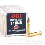 50 Rounds of .17HMR Ammo by CCI - 16gr Lead Free HP