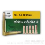 400 Rounds of 30-06 Springfield Ammo by Sellier & Bellot - 150gr SPCE