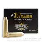 50 Rounds of .357 Mag Ammo by Armscor - 125gr FMJ