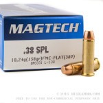 50 Rounds of .38 Spl Ammo by Magtech - 158gr FMC