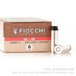 50 Rounds of .44-40 Win Ammo by Fiocchi - 210gr LRN