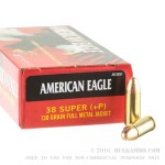 1000 Rounds of .38 Super + P Ammo by Federal - 130gr FMJ