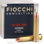 500 Rounds of .22 WMR Ammo by Fiocchi - 40gr JSP