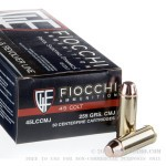 50 Rounds of .45 Long-Colt Ammo by Fiocchi - 255gr CMJ