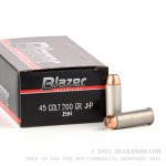 50 Rounds of .45 Long-Colt Ammo by CCI - 200gr JHP