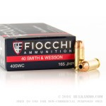50 Rounds of .40 S&W Ammo by Fiocchi - 165gr JHP