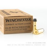 50 Rounds of .44-40 Win Ammo by Winchester - 225gr LFN