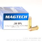 50 Rounds of .38 Spl Ammo by Magtech - 125gr FMC Flat