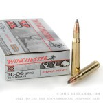20 Rounds of 30-06 Springfield Ammo by Winchester - 165gr PSP