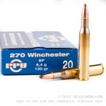 20 Rounds of .270 Win Ammo by Prvi Partizan - 130gr SP