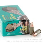 500  Rounds of 9mm Ammo by Brown Bear - 115gr FMJ