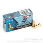 1000 Rounds of .25 ACP Ammo by Aguila - 50gr FMJ