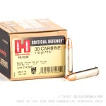 25 Rounds of .30 Carbine Ammo by Hornady Critical Defense - 110gr FTX