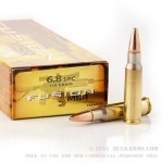 20 Rounds of 6.8 SPC Ammo by Remington - 115gr Fusion