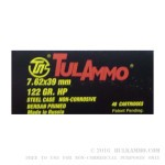 1000 Rounds of 7.62x39mm Ammo by Tula - 122gr HP