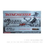 20 Rounds of .270 Win Ammo by Winchester Deer Season XP - 130gr Polymer Tipped