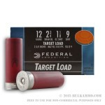 250 Rounds of 12ga Ammo by Federal - 1 1/8 ounce #9 shot