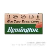 250 Rounds of 12ga Ammo by Remington - 1 1/8 ounce #8 shot