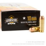 50 Rounds of 10mm Ammo by Armscor - 180gr FMJ