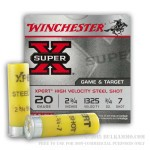25 Rounds of 20ga Ammo by Winchester - 3/4 ounce #7 Shot (Steel)
