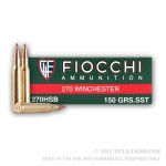 20 Rounds of .270 Win Ammo by Fiocchi - 150gr SST