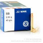 50 Rounds of .22 WMR Ammo by Sellier & Bellot - 45 gr CPRN