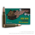 500  Rounds of .308 Win Ammo by Brown Bear - 140gr SP