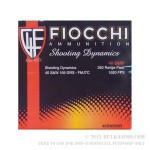 250 Rounds of .40 S&W Ammo by Fiocchi - 165gr FMJ