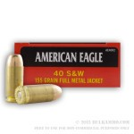 50 Rounds of .40 S&W Ammo by Federal - 155gr FMJ