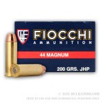 50 Rounds of .44 Mag Ammo by Fiocchi - 200gr SJHP