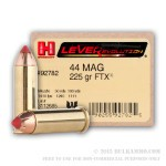 20 Rounds of .44 Mag Ammo by Hornady - 225gr FTX