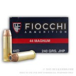 500 Rounds of .44 Mag Ammo by Fiocchi - 240gr JHP