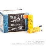 25 Rounds of 20ga Ammo by Federal - 7/8 ounce #8 shot