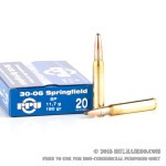 20 Rounds of 30-06 Springfield Ammo by Prvi Partizan - 180gr SP
