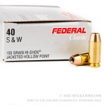 50 Rounds of .40 S&W Ammo by Federal - 155gr JHP