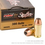 20 Rounds of .380 ACP Ammo by PMC - 95gr JHP