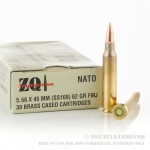 30 Rounds of 5.56x45 Ammo by ZQI - 62gr FMJ