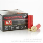 250 Rounds of 12ga Ammo by Winchester -  AA Light Tracker #8 Shot