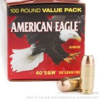 500  Rounds of .40 S&W Ammo by Federal - 180gr FMJ
