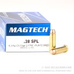 50 Rounds of .38 Spl Ammo by Magtech - 125gr FMC