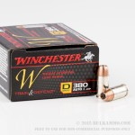 200 Rounds of .380 ACP Ammo by Winchester - 95gr JHP