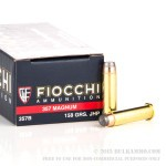 1000 Rounds of .357 Mag Ammo by Fiocchi - 158gr JHP