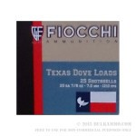 250 Rounds of 20 Gauge Ammo by Fiocchi Texas Dove Load - 7/8 ounce #7 1/2 shot