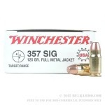 357 Sig Ammo For Sale - 125 gr FMJ Winchester
