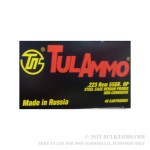 40 Rounds of .223 Rem Ammo by Tula - 55gr HP