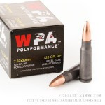 1000 Rounds of 7.62x39mm Ammo by Wolf WPA Polyformance - 123gr HP