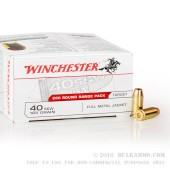200 Rounds of .40 S&W Ammo by Winchester - 165gr FMJ