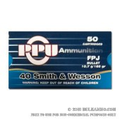 500  Rounds of .40 S&W Ammo by Prvi Partizan - 165gr FMJ