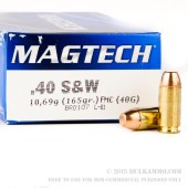 1000 Rounds of .40 S&W Ammo by Magtech - 165gr FMC