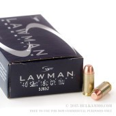 1000 Rounds of .40 S&W Ammo by Speer - 180gr TMJ